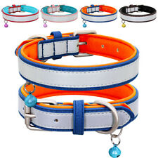 Safety Reflective Dog Collar Puppy Medium Adjustable Collars for Dogs Small Big