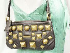 $895 Burberry Amersham Leather Studded HandBag Clutch Purse Wallet Women Lady
