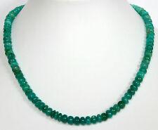 AMAZONIT KETTE  Edelsteinkette halskette Grün linsen amasonit Collier 43 cm Edel