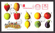 2003 FRUIT AND VEG SET OF 10 ON FDC WITH ORCHARD WAY CDS AND METER MARK