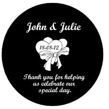 24 x PERSONALISED WEDDING DAY THANK YOU  FRIDGE MAGNETS OR KEYRINGS  - BRAND NEW