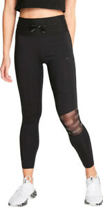 Puma Feel It Mesh Womens 7/8 Training Tights - Black