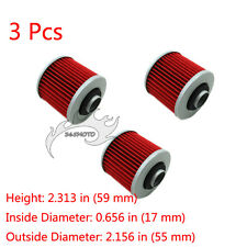 3x Oil Filter For Yamaha YFM600 SR400 XVS125 XVS400 TT600R XT600E XV535 SR500