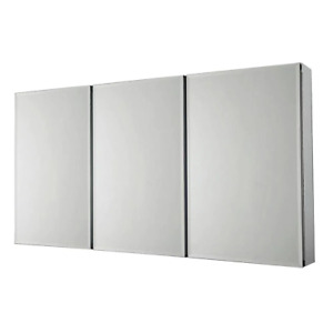 Mirrored Medicine Cabinet 36 in. x 31 in. Concealed Hinges Tri-View Dual Swing