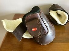 Brown Leather Stephens Fetlock Boots Used With Sheepskin Liner
