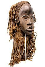 Art Africain - Masque de Chanteur - Coiffe Traditionnelle type Dread Locks +++++