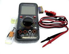 Digital Multímetro Voltímetro Amperímetro LGE Probador De Batería Automotriz Ohm Lcd 6626