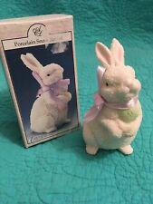 Vintage NIB Porcelain Snow Rabbit/Easter Spring Figurine By Artmark