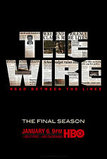 THE WIRE Orig Poster FINAL SEASON HBO Huge 4' x 5' Rare 2008 MINT