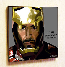 Tony Stark Iron Man Marvel DC Comics decals Decor Print Wall Art Poster  Canvas