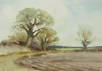 Roy Stockwell - Contemporary Watercolour, Farmed Landscape