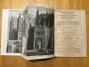 1806 - Copper Plate Itinerary - The Exterior of Gloucester Cathedral...  Bonnor.