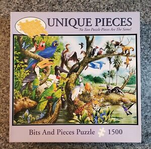 "Bits and Pieces 1500 piece puzzle ""Mato Grasso"", Unique shaped pieces, NIB"