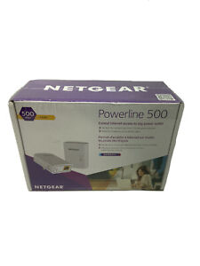NEW Netgear Powerline 500 Extend Internet Access Outlet XAVB5201 Factory Sealed.