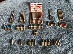 """Würth 76x Bits Torx 1/4"""" Länge 70mm / 25mm TX6-TX30"""
