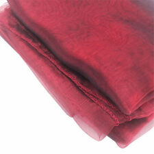 """53"""" Square Organza Tablecloth Table Cover Fabric Sheer Weddings Party Decoration"""