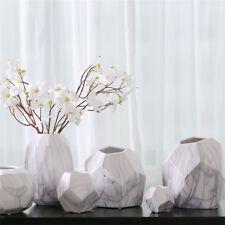 Geometric Marbling Ceramic Flower Vase Modern Home Office Wedding Decor_S