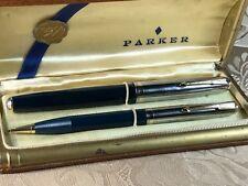 "Vintage 1940-41 Parker 51 Double Jewel ""Cedar Blue"" Fountain pen & pencil Set"