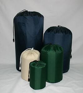 Waterproof nylon stuff bag sac sack. Made in Britain. 1.6Ltr-64Ltr