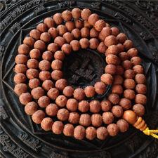8mm Tibet Buddhism 108 old small Phoenix eyes Bodhi seeds Mala Necklace
