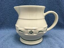 Longaberger Pottery Woven Traditions Heritage Green Pitcher Small Usa Euc