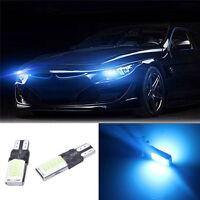 T10 bombillas de coche LED sin error CANBUS SMD COB Ice azul W5W501 luz lateral