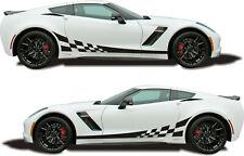 Seitenstreifen Auto Aufkleber Sticker Tuning Racing Rennflagge Seiten Dekor