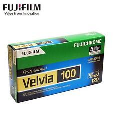 5 x Fujifilm FUJI Fujichrome Velvia 100 ISO Reversal RVP Color 120 Slide Film