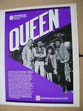 Queen 1986 Ad- Superstar Concert Series Freddie Mercury