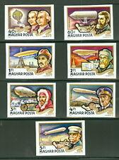 Hungary #C385-91, Airships set, Imperf, og, Nh, Vf, Scott $20.00