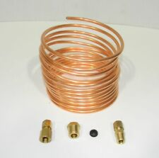 "Massey Ferguson Tractor Oil Pres Copper Install Kit 20' x 1/8"" Tubing x 1/8"" New"