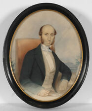 "Giuseppe Cammarano (1766-1850) ""Portrait of a Neapolitan Gentleman"", Watercolor"