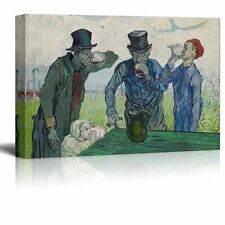 The Drinkers by Vincent Van Gogh - Oil Painting Reproduction on Canvas - 24 x 36