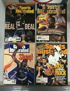 Shaquille O'neal Sports Illustrated Lot of 4 Magazines 1991, 92, 96, 99 Labels