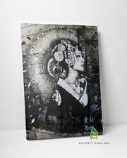 JAPANESE GEISHA FLOWERS Graffiti Canvas Art Wall Art Print Picture Banksy -D132