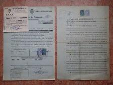 !! revenue 1977 Angola doc 2pcs operações de tesouraria contrato de arrendamento