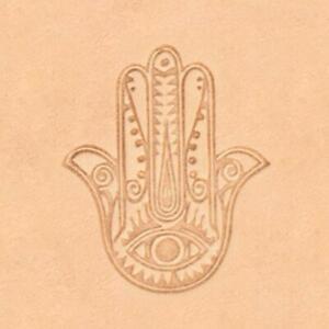 Ivan 3D Leather Stamp - Henna palm (8590-00)