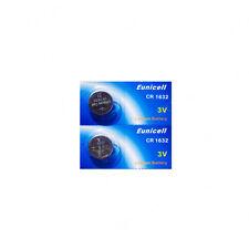 2 batteries CR1632 EUNICELL - 3V Lithium