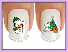 Nail Decals #823X CHRISTMAS Snoopy 7 Holiday Tree  WaterSlide Nail Art Transfers