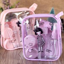 8Pcs Essensial Travel Mini Plastic Transparent Empty MakeUp Container Bottle TB