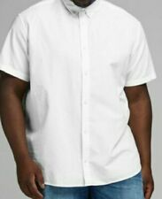 BNWT JACK & JONES WHITE COTTON & LINEN SHORT SLEEVE SHIRT SIZE 4XL RRP£49