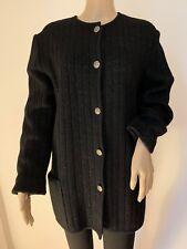 Vintage UNGARO PARIS black cardigan sweater