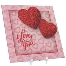 """Tridelix 5D día de San Valentín """"te amo"""" Tarjeta de cartel con soporte, 6 X 6 pulgadas"""