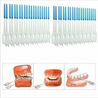 40Pcs Soft Dental Oral Floss Clean Brushes Between Interdental Teeth Care Tool