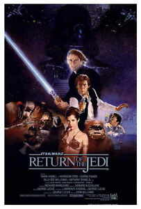 "STAR WARS RETURN OF THE JEDI Movie Poster [Licensed-New-USA] 27x40"" Theater Size"