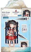 Docrafts urban rubber stamp set Santoros Gorjuss Postal Collection SUMMER DAYS