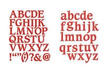 Stanzschablone Schrift Buchstaben Alphabet Spellbinders Shapeabilities S5 + S6
