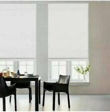 "Glowe 35""x72"" Cordless Fabric Roman Shade - White"