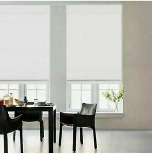 "Glowe 35""x72"" Cordless Fabric Roman Shade - White"
