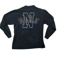 Vtg Nike Double Sided Long Sleeve Shirt Mens Sz XL Black Gray Orange